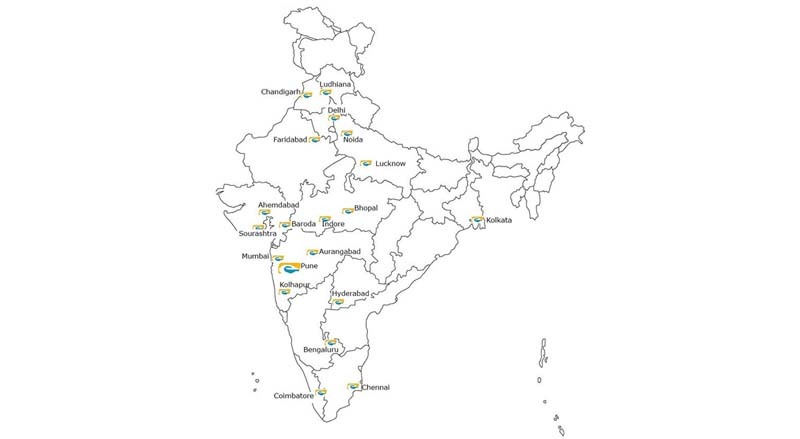 EMS Branches in India